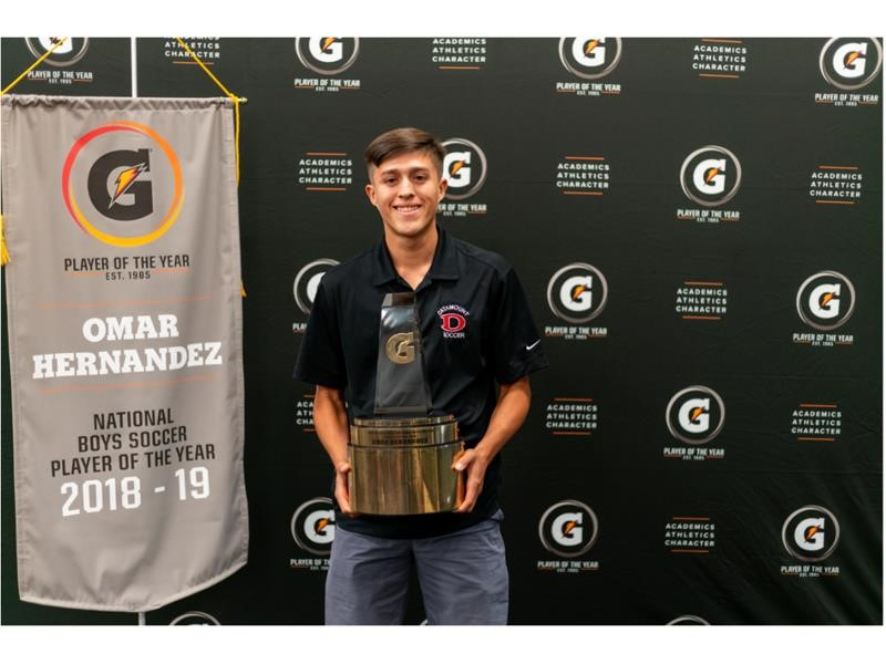2018-19 Gatorade National Boys Soccer Player of the Year Award Winner Omar Hernandez
