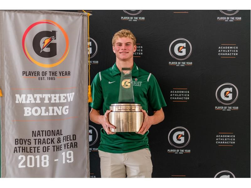 2018-19 Gatorade National Boys Track and Field Player of the Year Award Winner Matthew Boling
