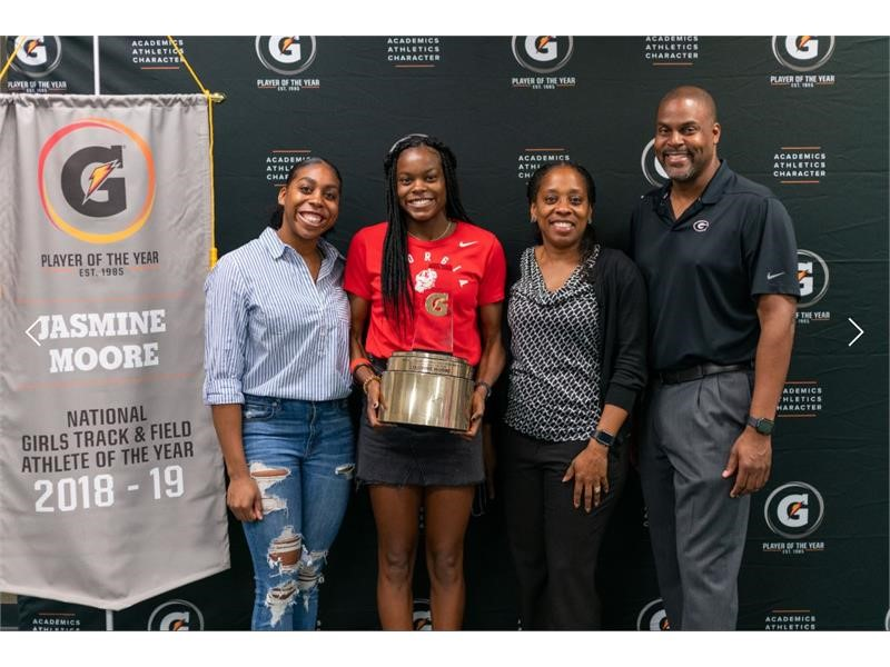 JASMINE MOORE NAMED 2018-19 GATORADE® NATIONAL GIRLS TRACK AND FIELD PLAYER OF THE YEAR Gatorade Pre