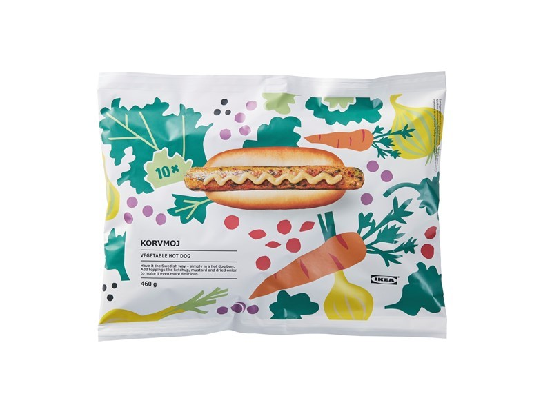 Popular IKEA veggie hot dog now also available to bring home