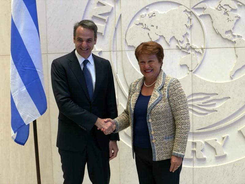 IMF Greece Mitsotakis