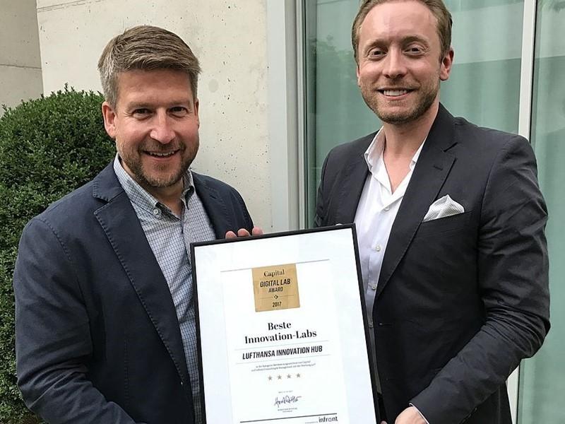Lufthansa hat bestes Innovation-Lab Deutschlands