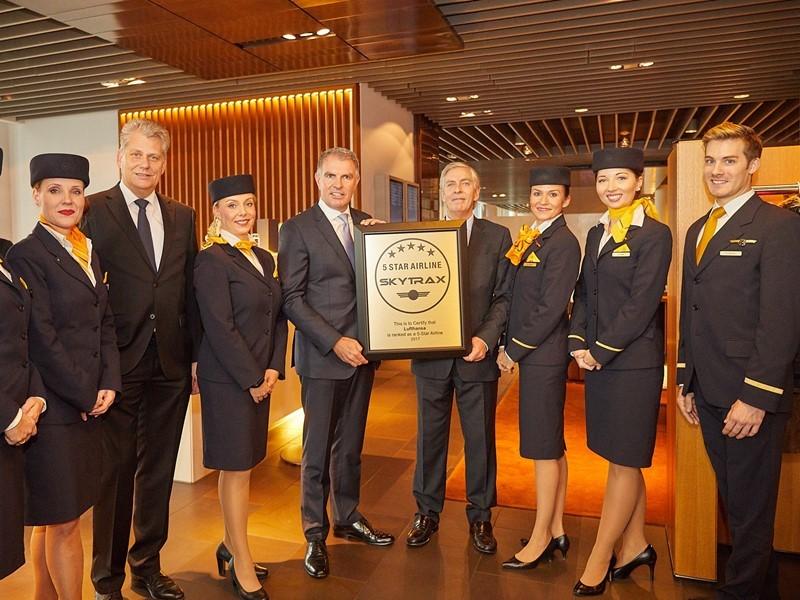 Lufthansa ist einzige europäische 5-Sterne-Airline