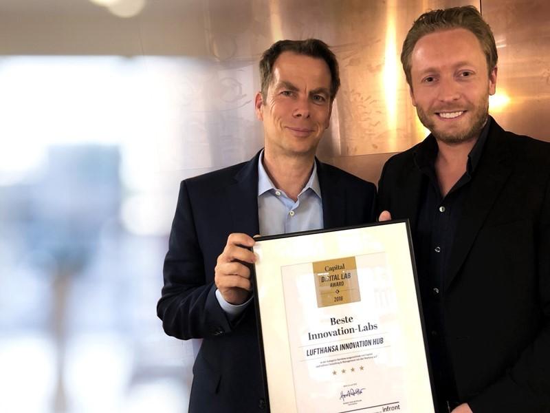 "Lufthansa Innovation Hub ist ""Bestes Innovation-Lab 2018"""