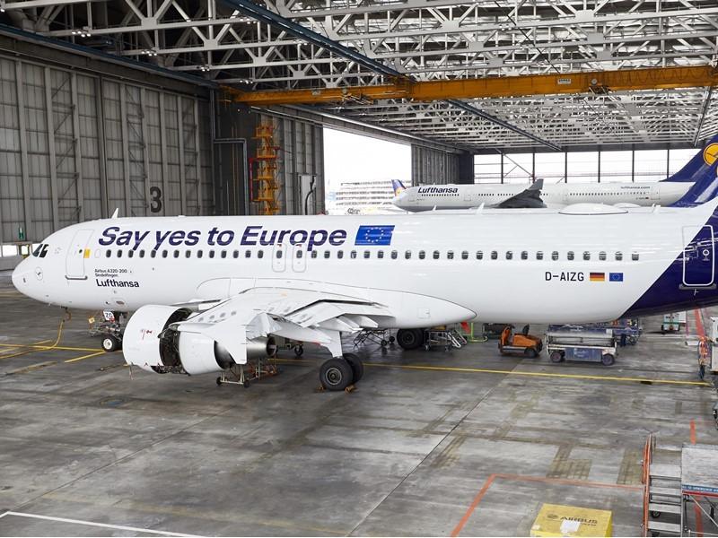 Lufthansa promotes the European elections