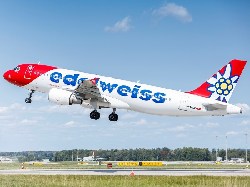 The Group airline Edelweiss offers carbon offsetting within the booking process