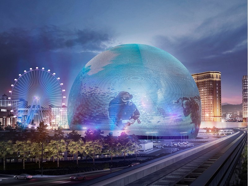 The MSG Sphere at The Venetian Resort Construction Update
