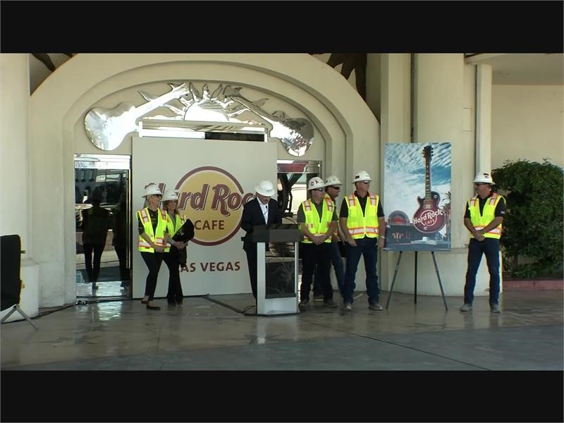 Demolition of Hard Rock Cafe in Las Vegas