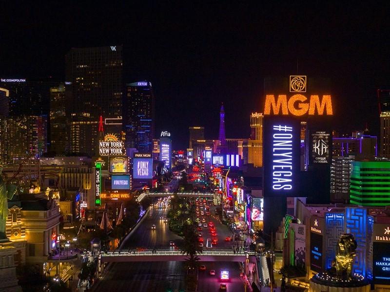 Las Vegas Paints the Town Purple in Celebration of Campaign Launch