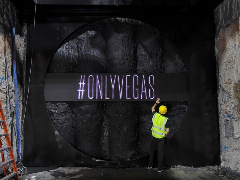Las Vegas Convention Center Celebrates Major Milestone  in Elon Musk's Innovative Underground Transportation System; Excavation of First Tunnel Com...