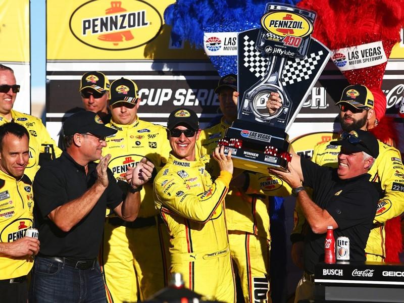 Joey Logano Wins NASCAR's Pennzoil 400 at the Las Vegas Motor Speedway