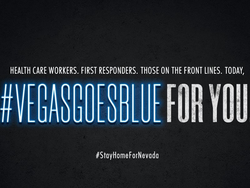 Vegas Goes Blue on World Healthcare Day April 7