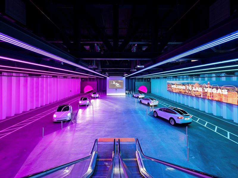 First Look Inside Elon Musk's Underground Transportation System Beneath the Las Vegas Convention Cen