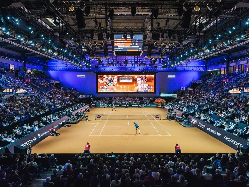 Porsche Tennis Grand Prix: Top sport and excellent entertainment