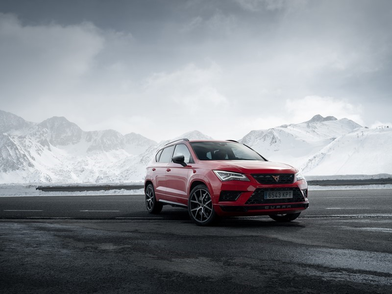 CUPRA Ateca takes to the ice track in the Andorran mountains