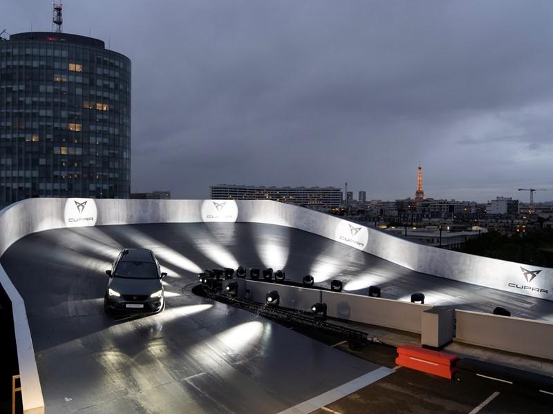 CUPRA goes sky high on a Paris rooftop race track
