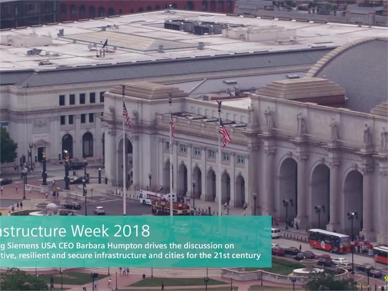 Siemens USA Participates Coast to Coast in Infrastructure Week 2018