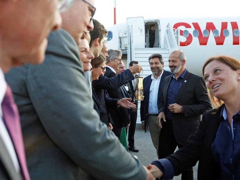 SWISS est le transporteur officiel de la flamme des Jeux Olympiques de la Jeunesse Lausanne 2020