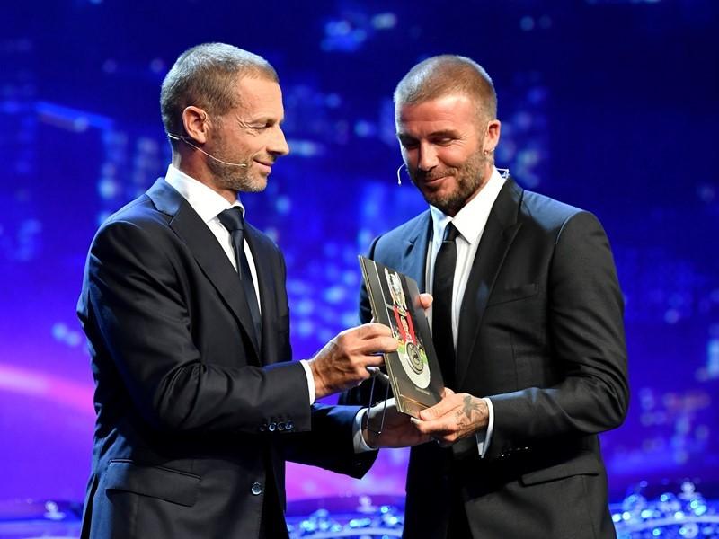 """Beckham """"honoured"""" at UEFA President's Award"""