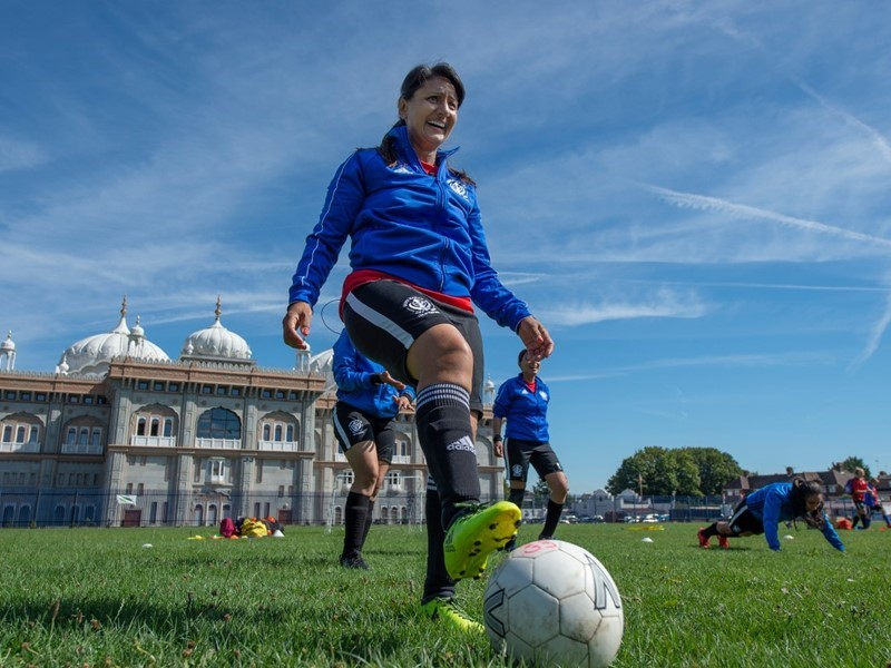 English amateur women's football pioneer awarded UEFA grassroots gold