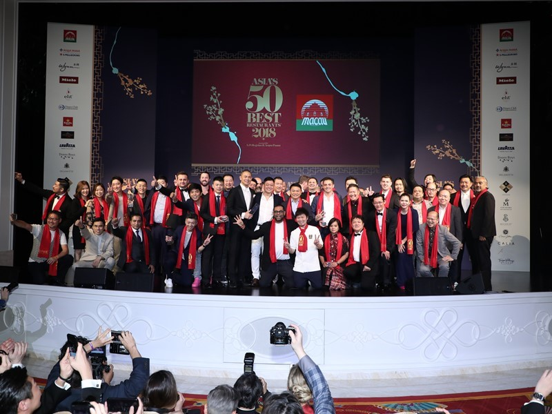 Asia's 50 Best Restaurants Awards 2019 Selects Macau as Host Destination for Second Consecutive Year