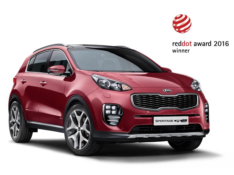 New Kia Sportage and Optima win new design awards