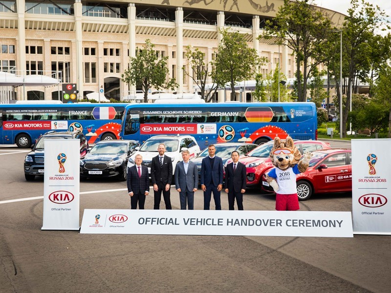 Kia gears up for 2018 FIFA World Cup Russia™ with vehicle handover, brings the tournament to more football fans