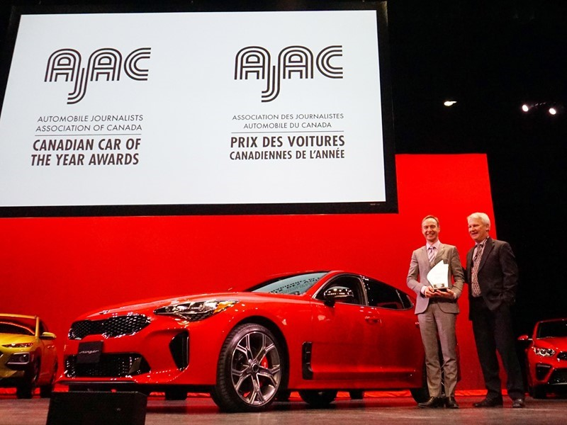 The Kia Stinger is Canada's 2019 Car of the Year, according to the Automobile Journalists Associatio