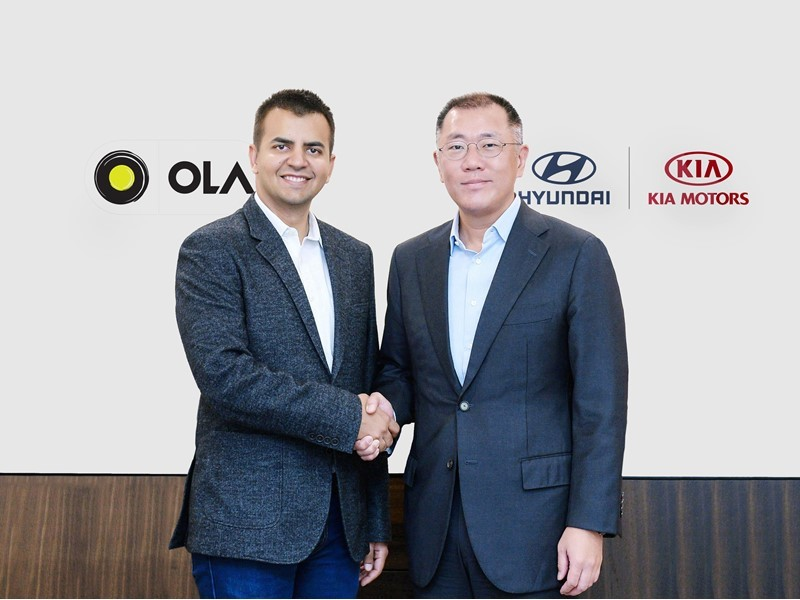 Hyundai and Kia Invest $300m in India's Largest Mobility Service Provider Ola