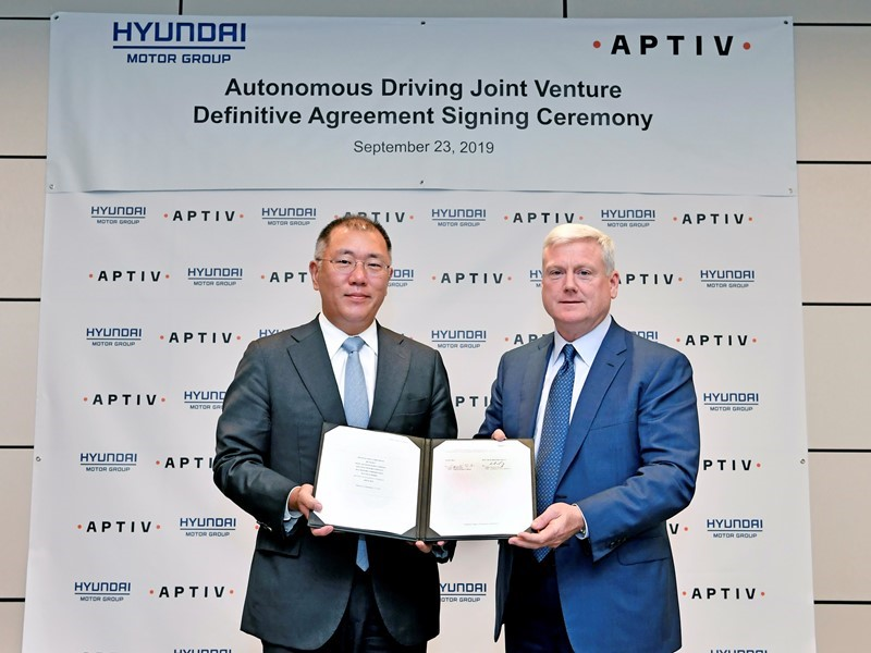 Hyundai Motor Group and Aptiv to Form Autonomous Driving Joint Venture