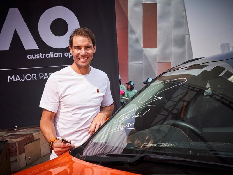 Kia, Nadal present official transportation vehicles at Australian Open 2020
