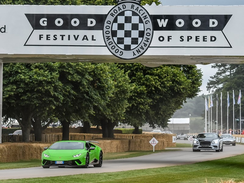 Lamborghini Centenario makes dynamic debut  at Goodwood Festival of Speed 2017. Lamborghini stand fe