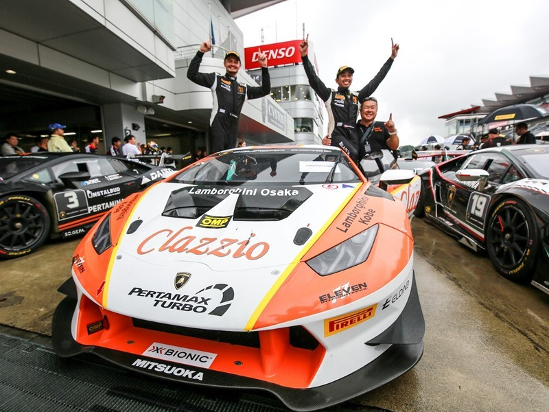 Double victory for Cozzolino and Yazid in the Lamborghini Super Trofeo Asia