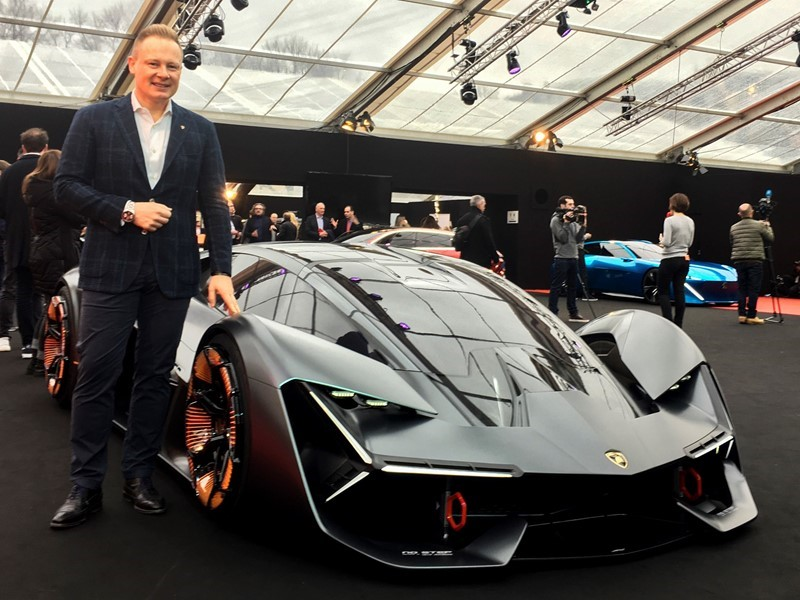 The Lamborghini Terzo Millennio  at the Festival Automobile International of Paris