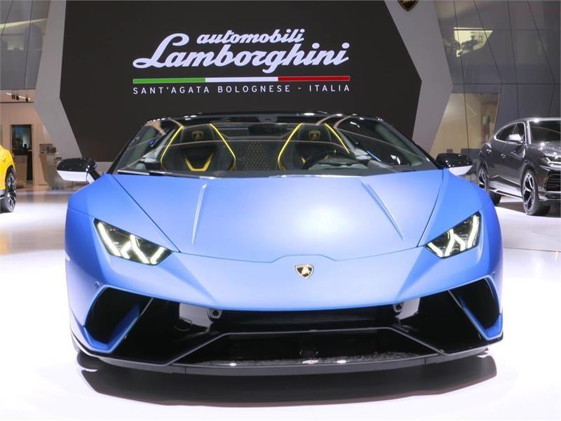 Collezione Automobili Lamborghini al Salone dell'Automobile di Ginevra 2018