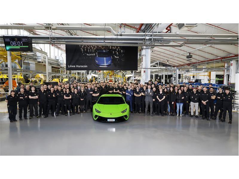 Record produttivo storico per Automobili Lamborghini: 10.000 Huracán prodotte in 4 anni