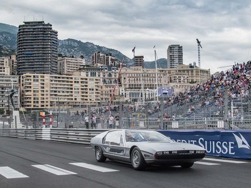 Die Geschichte wiederholt sich: Lamborghini Marzal beim GP de Monaco Historique, gefahren von Prinz