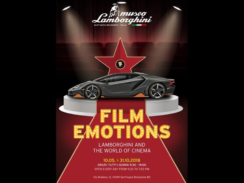 Film Emotions: the most important Lamborghinis of cinema on display at the Museum in Sant'Agata Bolo