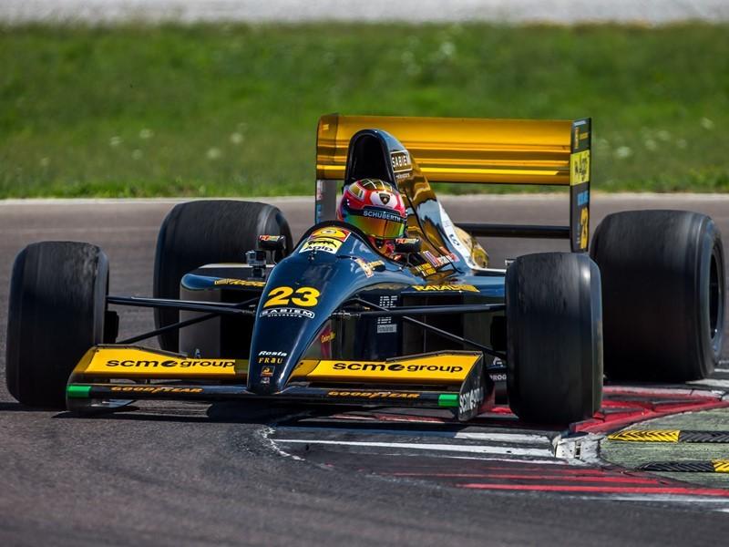 La Minardi 191B F1 con motore Lamborghini  torna a correre dopo 26 anni