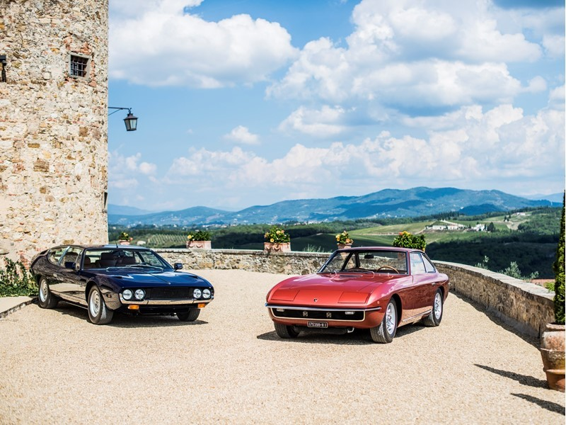 50 years of Lamborghini Espada and Islero celebrated with an Italian tour through Umbria, Tuscany an