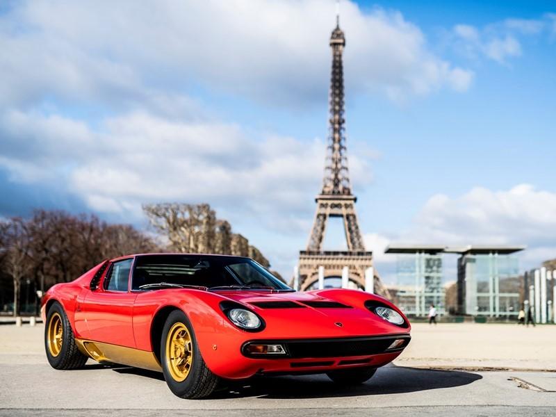 Lamborghini Polo Storico at Rétromobile Paris to unveil the latest restoration: the Miura SV owned b