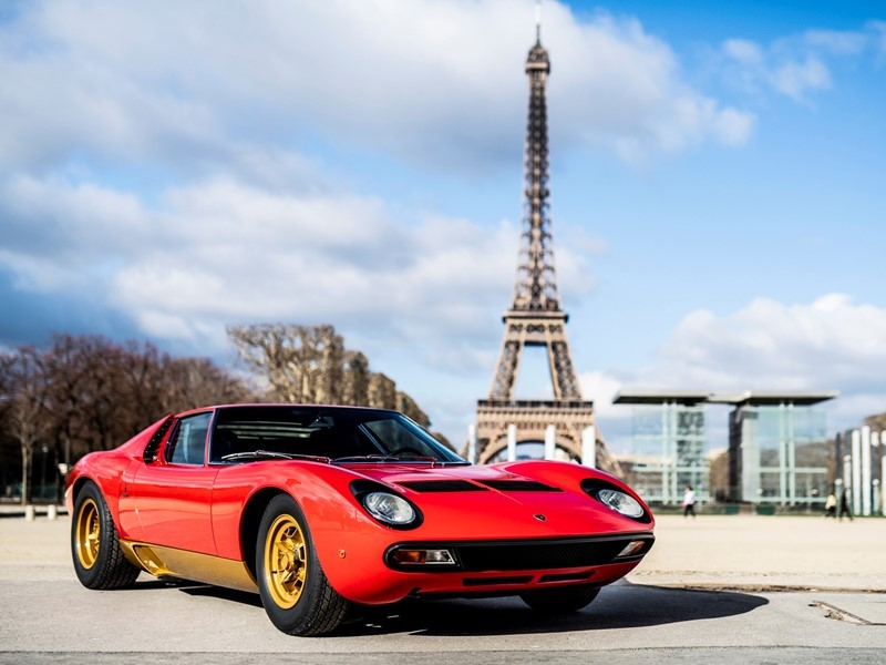 Lamborghini Polo Storico at Rétromobile Paris to unveil the latest restoration:  the Miura SV owned