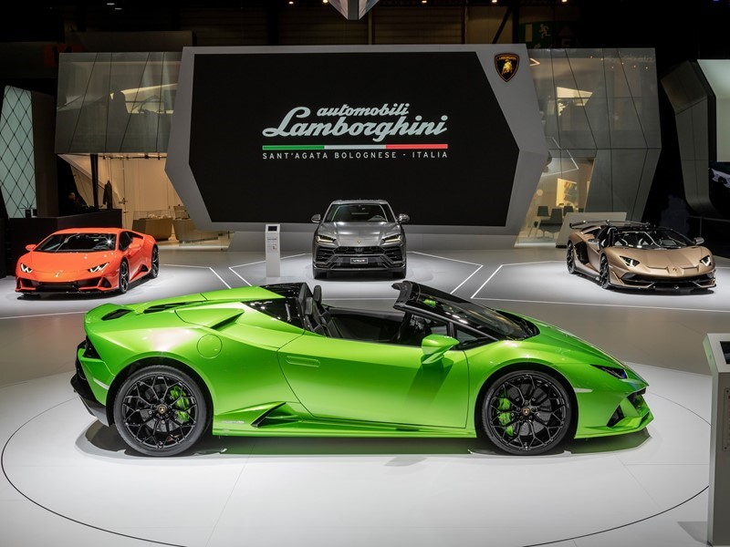 Automobili Lamborghini brand partnerships at Geneva Auto Salon 2019