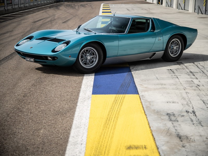 Little Tony's Miura P400 certified by Lamborghini Polo Storico at the Concorso d'Eleganza Villa d'Es