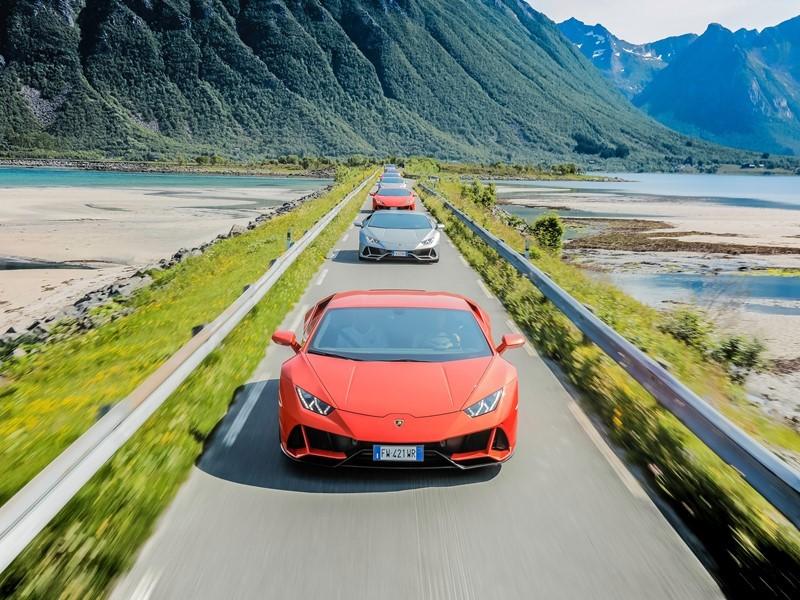 Lamborghini Avventura 2019:  eine Entdeckungsreise mit dem Huracán EVO zu den norwegischen Lofoten u