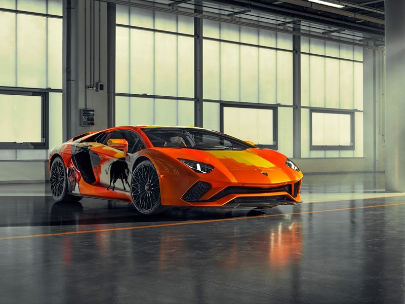 Automotive art and street art come together in the Aventador S by Skyler Grey at Monterey Car Week 2